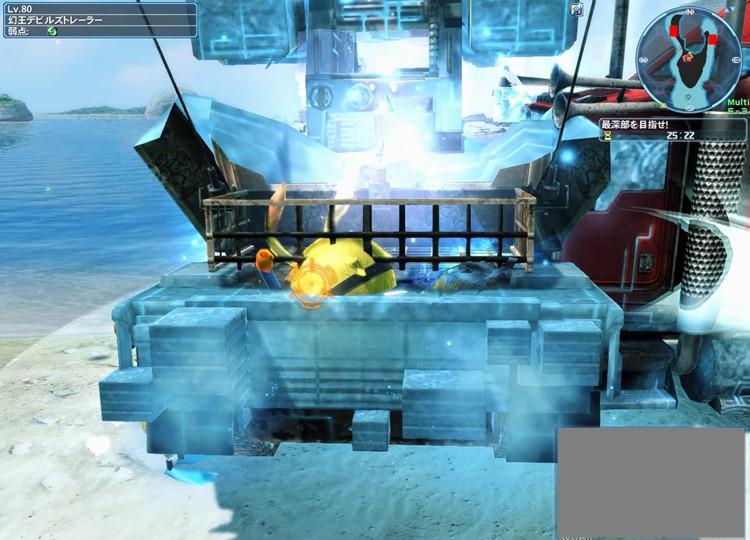 トレーラー、戦車を中央広場に引き寄せる
